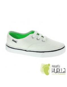 Zapatillas Lona con Cordones, Blanco