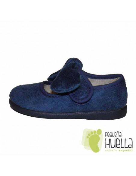 Merceditas Niña Azules con Lazo y Velcro
