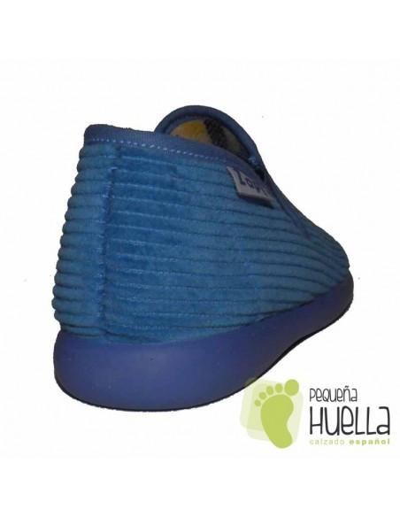 Zapatillas Pana Azules para Casa de Niñas