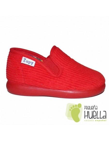 Zapatillas Pana Rojas para Casa de Niñas