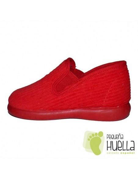 Zapatillas Pana Rojas para Casa de Niños