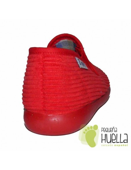 Zapatillas Pana Rojas para Casa de Niños y Niñas