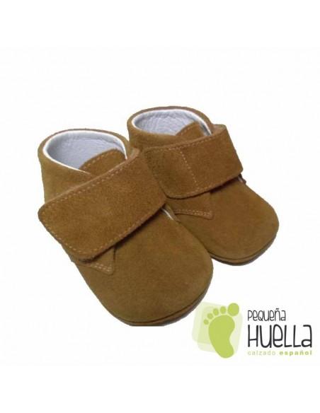 Botitas Bebés Serraje Camel Velcro