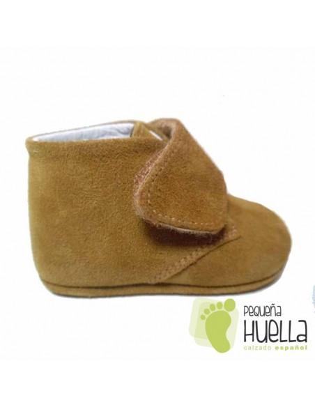 Botitas Bebé Serraje Camel Velcro