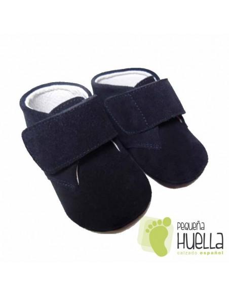 Botas Bebés Serraje Azul Marino Velcro