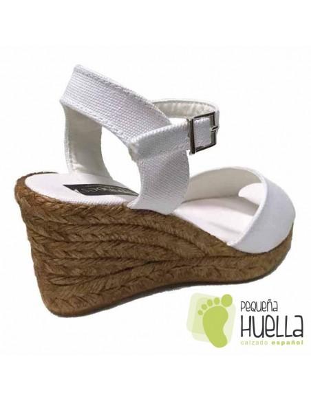 Alpargatas o sandalias de esparto Blancas para mujer
