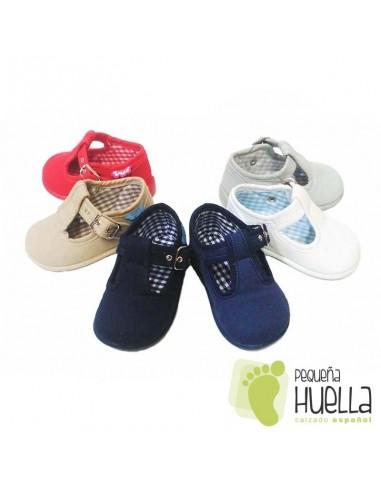 Pepitos Sandalias de Lona Zapy con hebilla bebes, niños y niñas