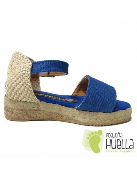 Alpargatas sandalias chicas Azulón