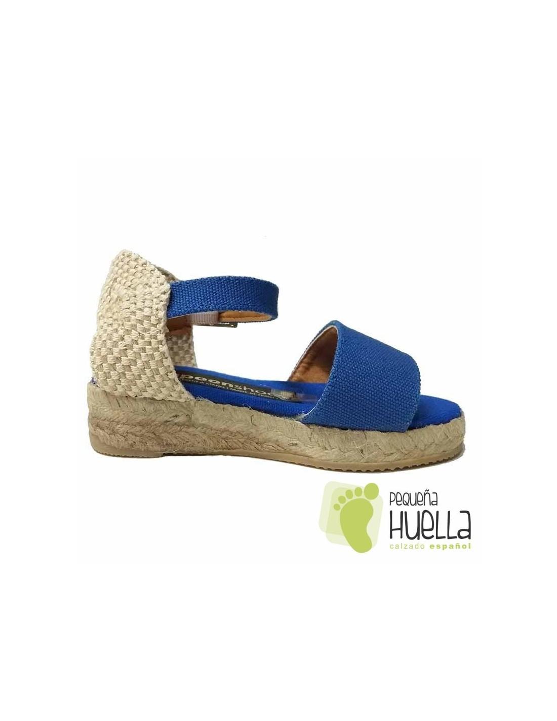 c52eee282 Comprar alpargatas tipo sandalias con cuña de yute para niña y mujer