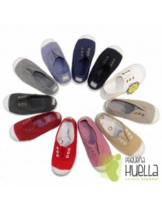 Zapatillas Lona Niños Puntera de Goma, La Cadena.