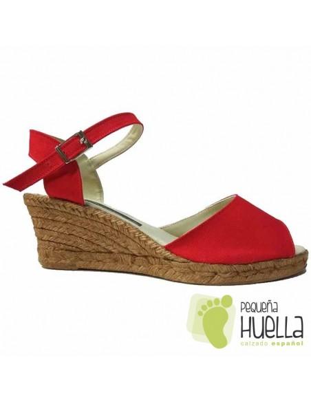 Alpargatas Rojas Cuña Mujer españolas