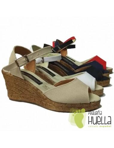zapatos deportivos 9af88 ebbfa COMPRAR ALPARGATAS DE MUJER CUÑA ALTA EN MADRID