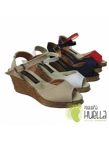 Sandalias Alpargatas con Cuña para Mujeres hechas en Españ