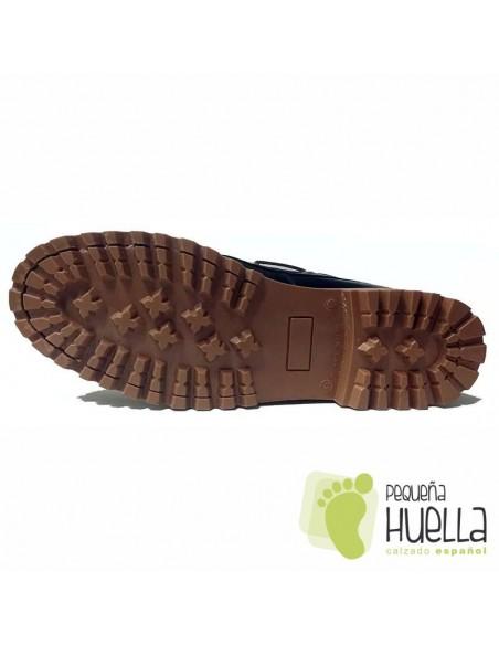 Zapatos Náuticos Azules de Niños y Niñas con Cordones YOWAS 6167