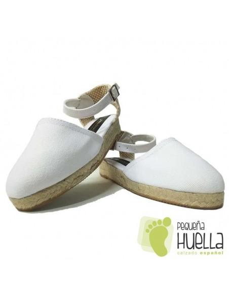 Alpargatas Valencianas Blancas para Niña