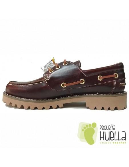 Zapatos Náuticos Marrones de Niños y Niñas con Cordones YOWAS 6167