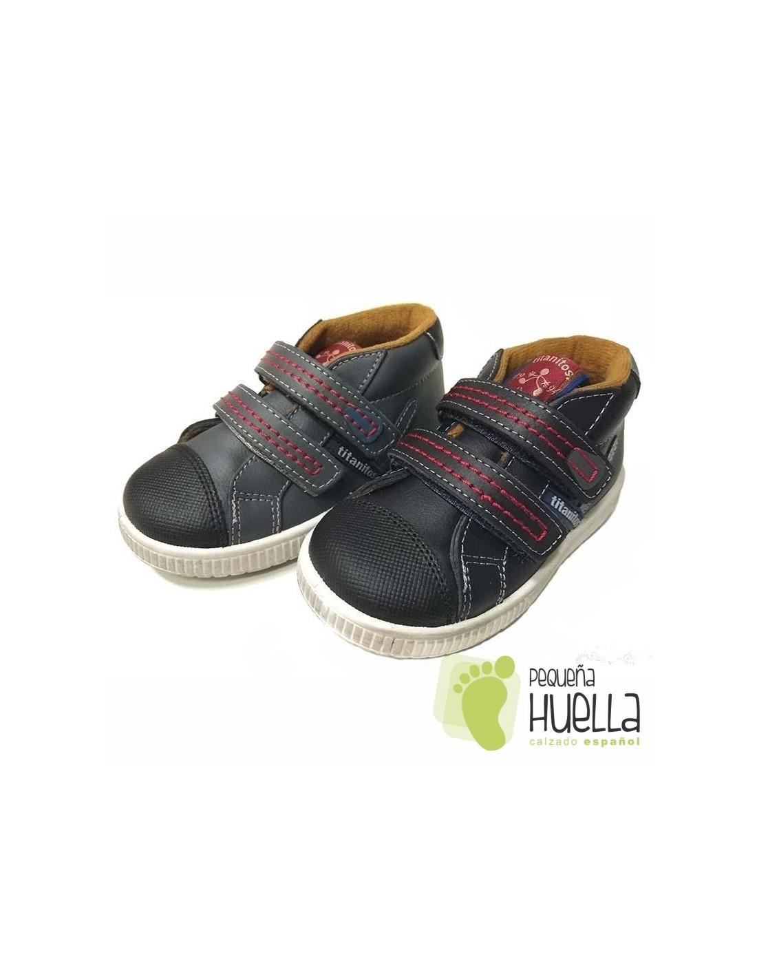 dfc0a92a5af Comprar Botas para niños de Piel con Velcro Titanitos en Madrid