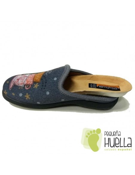 Zapatillas Grises para Casa de Mujer Dr Cutillas