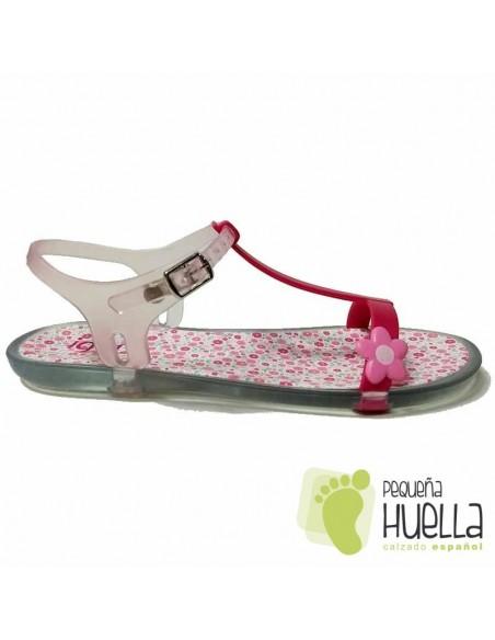 Sandalias o Chancla de flores rosas  Goma IGOR Tricia