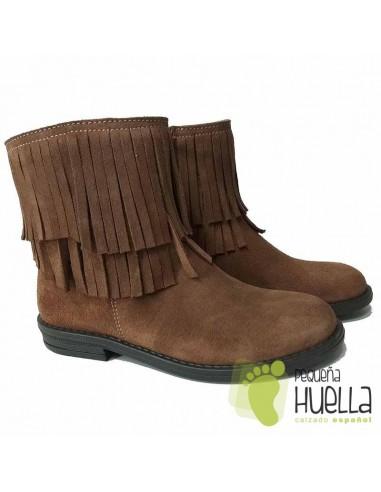 95a3c7f65 Comprar botines de piel con flecos para niñas online