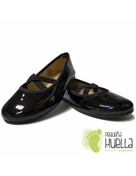 Zapatos Piel Charol Negros