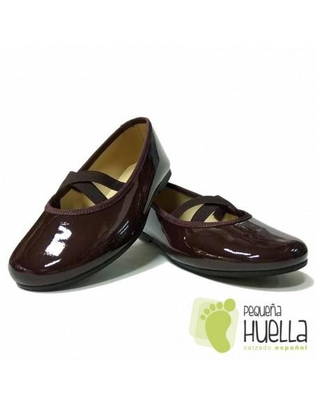 Zapatos Piel Charol Marrones