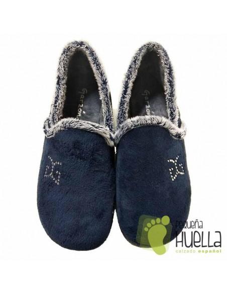 Zapatillas de Casa Para Mujer Garzón Azules