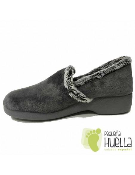 Zapatillas de Casa Para Mujer Garzón Grises