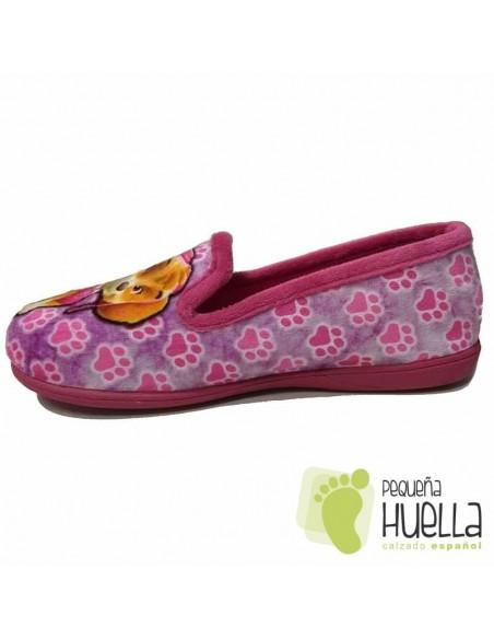 Zapatillas Niñas de Casa Patrulla Canina Rosas