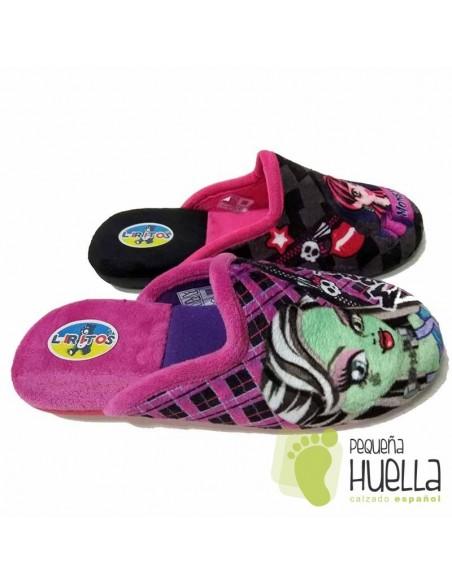 Zapatillas de Niña para Casa Monster