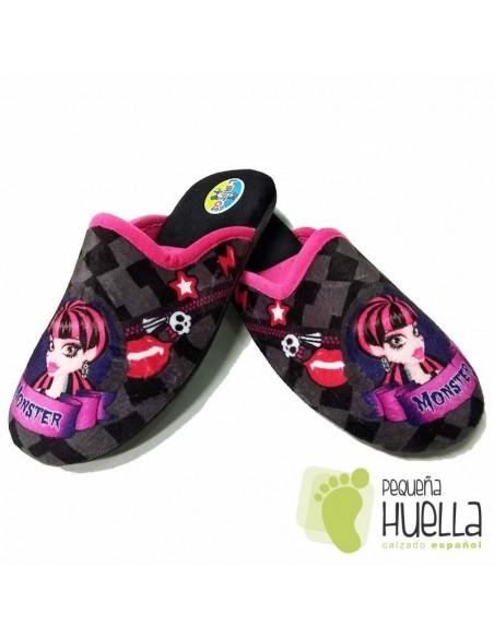 Zapatillas de Niña para Casa Monster Fucsia