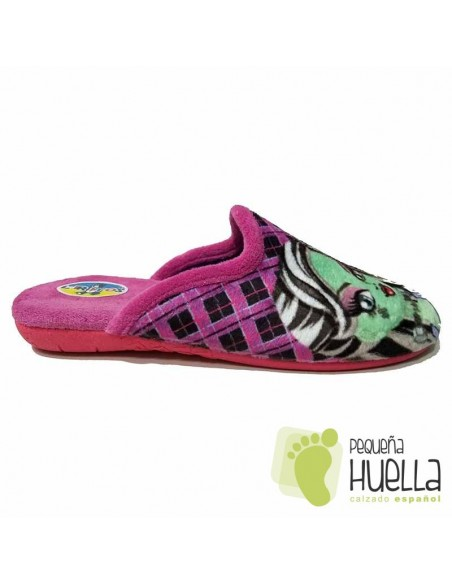 Zapatillas de Niña para Casa Monster Rosa