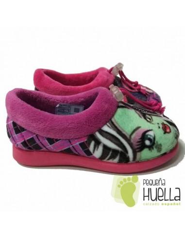 Zapatillas de Casa para Niñas Monster