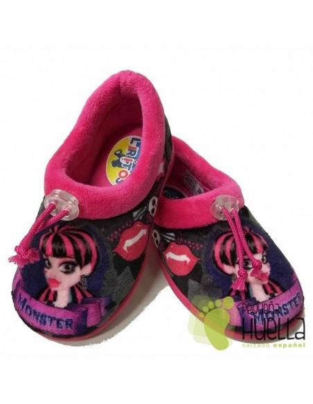 Zapatillas de Casa para Niñas Monster Fucsia