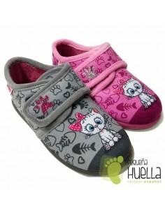 Zapatillas de Casa para Niña con velcro Gatita Zapy