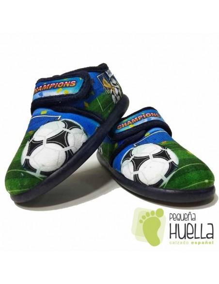 Zapatillas de Casa Champions para Niños con Velcro Zapy