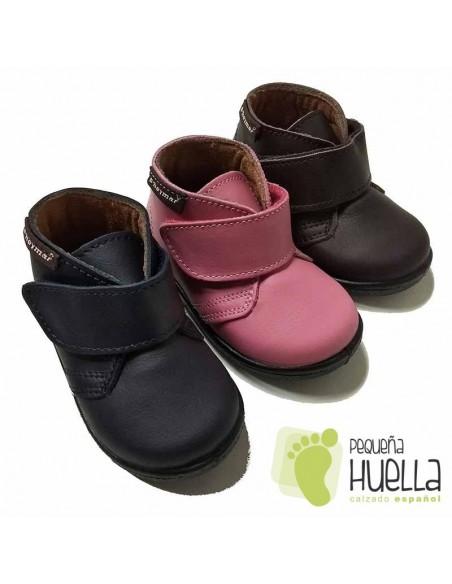 Bota Bebé Niño Niña Piel Velcro