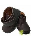 Bota Bebé Niño Niña Piel Velcro Marrones