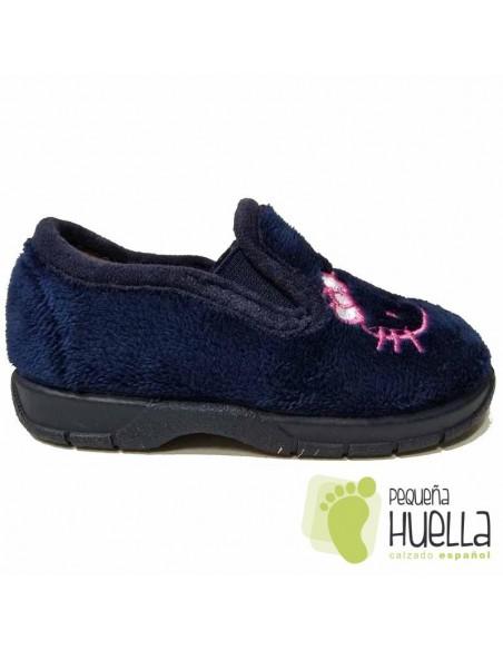 Zapatillas Casa Niñas Hello Kitty Azules