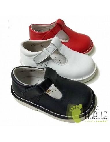 Sandalias de Piel para Niños con Velcro