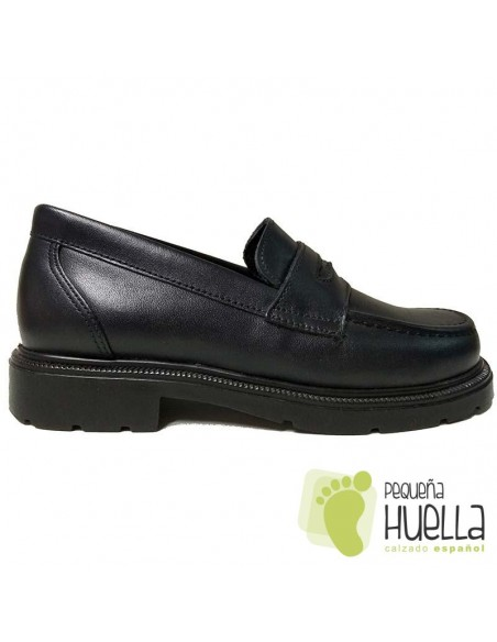 Zapato Colegial Mocasín Azul Marino YOWAS 120