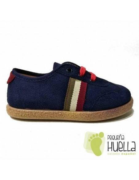 Zapatillas Blucher Azules con cordones