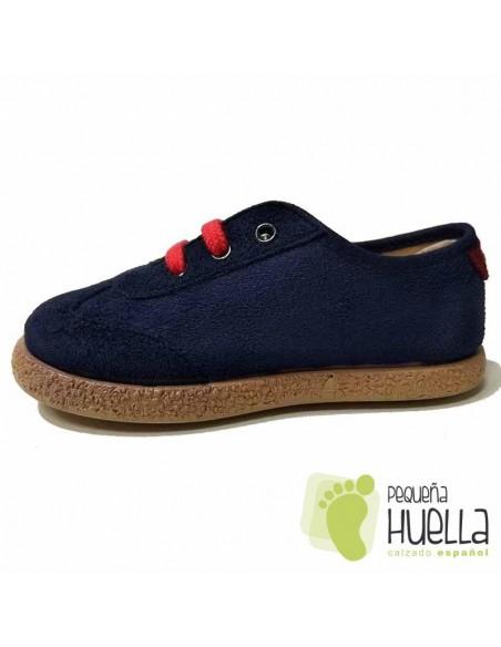 Zapatillas Blucher Azules cordones