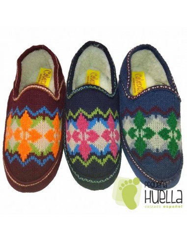 Zapatillas de lana para Casa de Mujer CALENTITAS