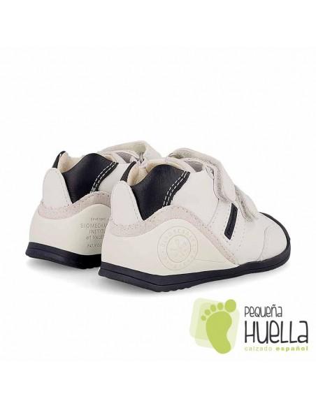 Deportiva Bebé Blanca y azul Biomecanics 151157