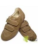Zapato Tipo Blucher Camel Velcro