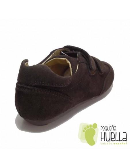 Zapato Tipo Blucher Marrón Velcro
