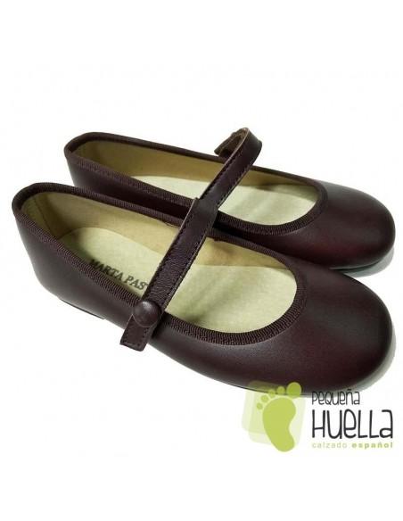 Zapatos Niña de Piel Marrones