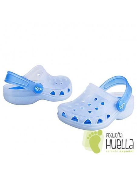 Zuecos de Goma IGOR azules