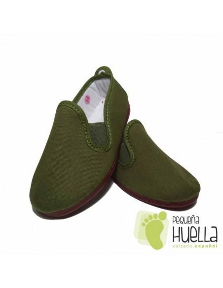 Zapatillas Kung fu Verde Caqui